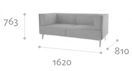 Thynk Soft Seating STK3 Dimensions
