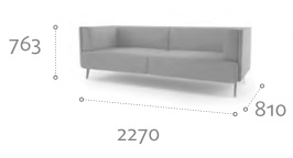 Thynk Soft Seating STK5 Dimensions