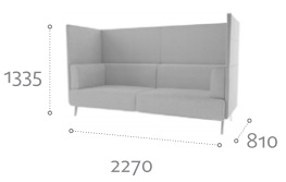Thynk Soft Seating STK6 Dimensions