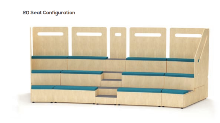 Tier Modular Auditorium Seating Example
