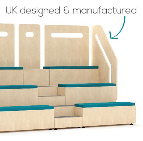 Tier Modular Auditorium Seating Features