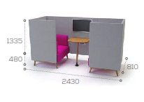 Tryst Soft Seating -  2 Seater STK7