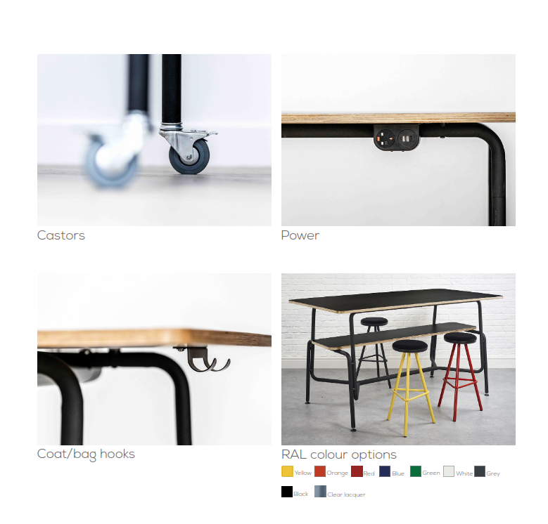 Tubes Breakout Furniture Options