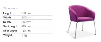 Vision Tub Chair Dimensions