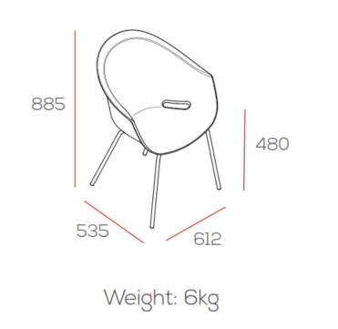 Zest Dining Chair Dimensions