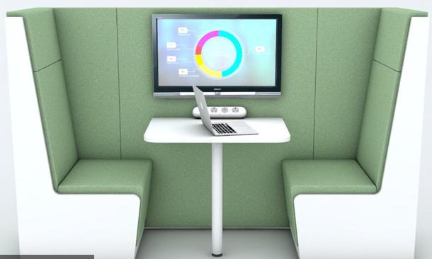 Luna Privacy Booth - 4 person 1200