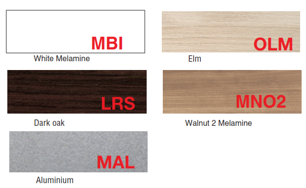 Study Booths - Melamine Finishes: