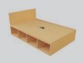 Student Bedroom Furniture Deluxe Storage Bed