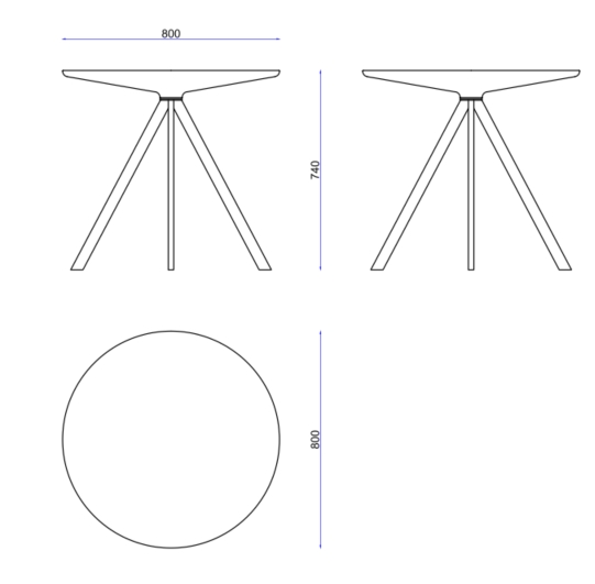Margarita Table Dimensions
