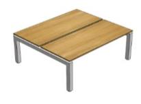 Fizz Freestanding Bench 2 person B2B Image