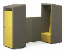 Fifteen two seat sofa pod unit - 15-E-P12