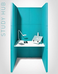 Linc Modular Screens Study Booth