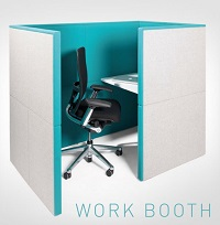 Linc Modular Screens Work Booth