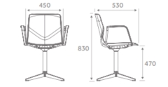 FourSure99 Conference Chair Dimensions