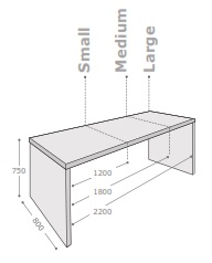 Block Breakout Table Dimensions