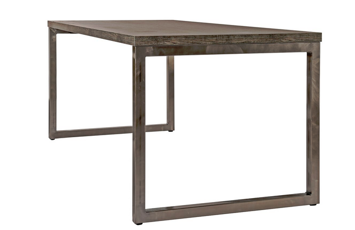 Block Steel Rustic Bench Table
