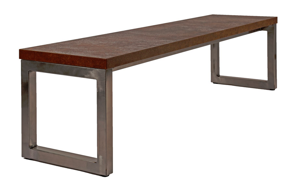 Block Steel Rustic Bench Seat