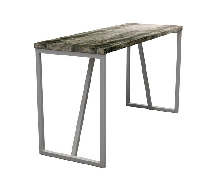 Block Steel Rustic Poseur Table