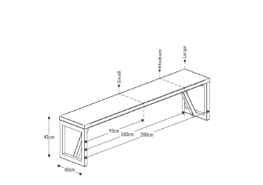 Block Wood Bench Dimensions