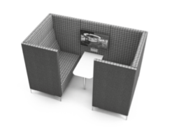 Huddle Cave Soft Seating - 4 seater media