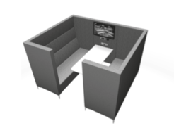 Huddle Cave Soft Seating - 6 seater media