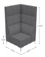Huddle Modular High Back Seating - High Corner MHC