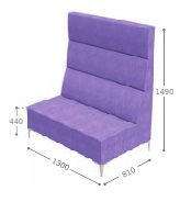 Huddle Modular High Back Seating - High Double MHD