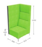Huddle Modular High Back Seating - High End Right MHR