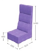 Huddle Modular High Back Seating - High Single MHS