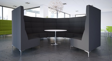 Huddle Modular High Back Seating - Meeting Pod