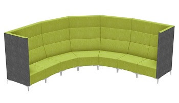 Huddle Modular High Back Seating - Slab Ends