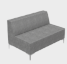 Huddle Modular Low Back Seating - Low Double