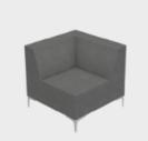 Huddle Modular Low Back Seating - Low Corner