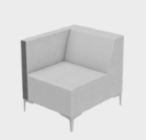 Huddle Modular Low Back Seating - Right End