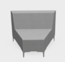 Huddle Modular Low Back Seating - Low Wedge 45 degree