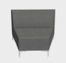 Huddle Modular Low Back Seating - Low Wedge