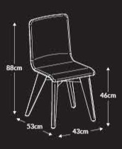 Jig 2-Tone Breakout Chair Dimensions