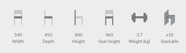 Mood Breakout Chair Dimensions