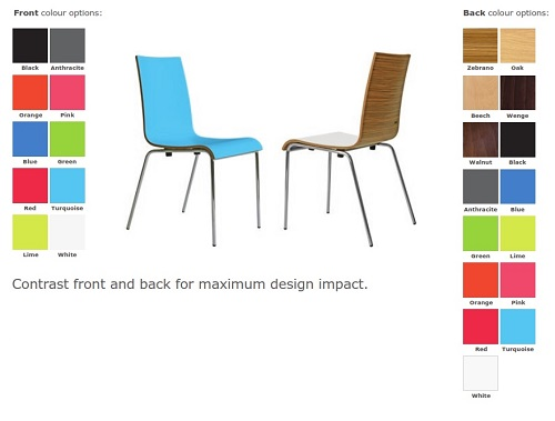 Zero Two-Tone Breakout Chair - Colour Options