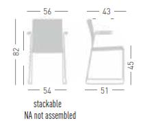 Artesia Meeting Chair Dimensions