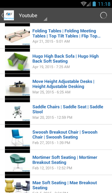 Genesys Office Furniture App - Screenshot 2