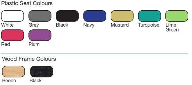 LG4 Wood Seating Colour Options
