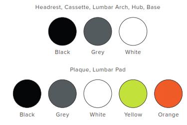 Oscar Meshback Task Chair Frame Colours