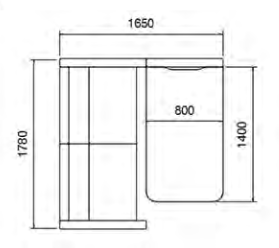 Take Up Booth Dimensions
