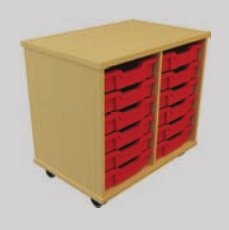 Storage Tray Unit - 12 Drawer Mobile