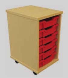 Storage Tray Units - 6 Tray Mobile