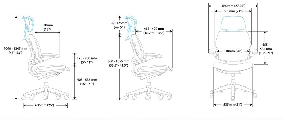 Freedom Task Chair Dimensions