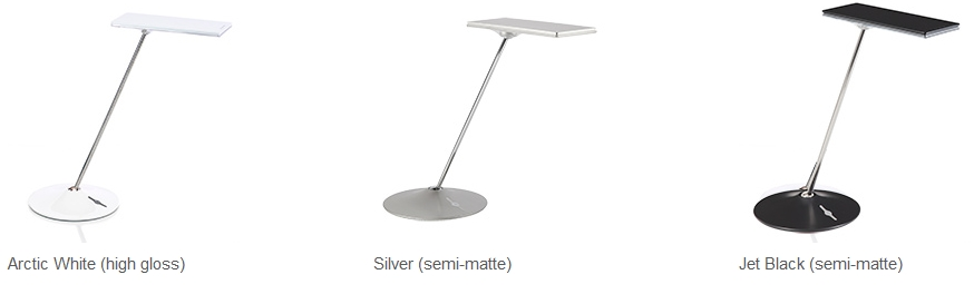 Humanscale Horizon LED Task Light Finishes