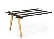 Evolution Bench 1200mm B2B Frame Wood Legs