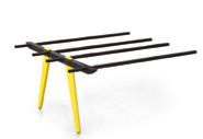 Evolution Bench 1600mm B2B Frame Wood Legs